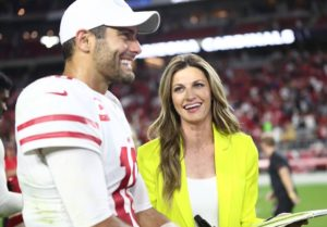 """Jimmy Garoppolo Explains Why He Called Erin Andrews """"Baby""""; Do You Believe His Explanation? (Video)"""
