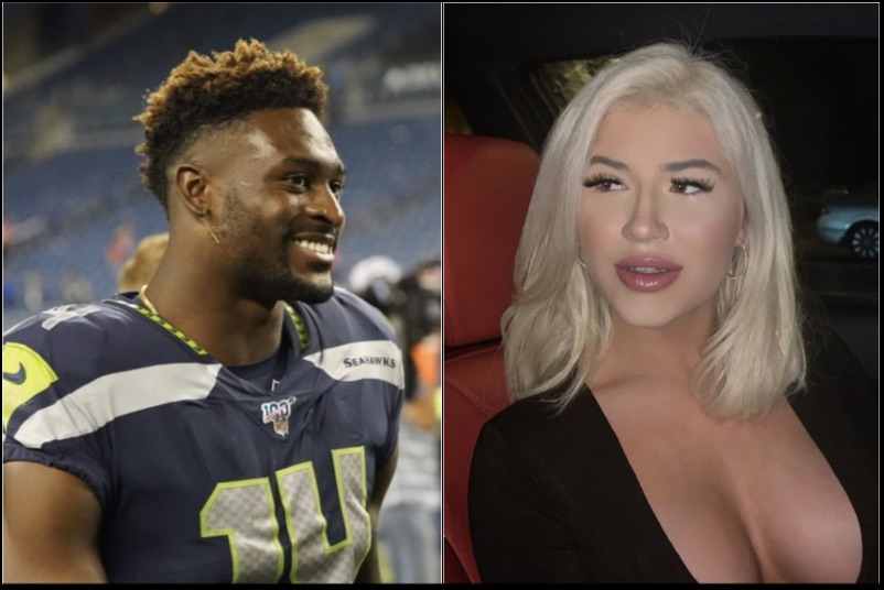 D K Metcalf And His Rumored Girlfrend Cirena Wilson Were Hanging Out In Miami Over The Weekend Blacksportsonline